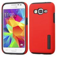 Pro Shield Hybrid Armor Case for Samsung Galaxy Core Prime / Prevail LTE - Red