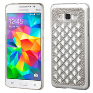 Desire Bling Bling Crystal Cover for Samsung Galaxy Grand Prime - Diamond Silver