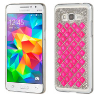 Desire Bling Bling Crystal Cover for Samsung Galaxy Grand Prime - Diamond Hot Pink