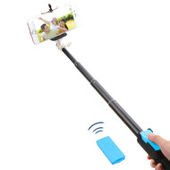 Selfie Stick with Wireless Remote Shutter Control - Blue