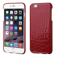 Crocodile Skin Executive Back Protector Cover for iPhone 6 Plus / 6S Plus - Red