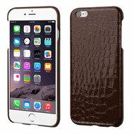Crocodile Skin Executive Back Protector Cover for iPhone 6 Plus / 6S Plus - Brown