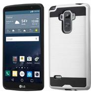 Brushed Hybrid Armor Case for LG G Stylo / Vista 2 - Silver