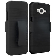 Armor Shell Case with Holster for Samsung Galaxy Grand Prime - Black