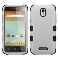 Military Grade Certified TUFF Hybrid Case for Alcatel OneTouch Elevate - Grey