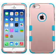 Military Grade Certified TUFF Hybrid Case for iPhone 6 / 6S - Rose Gold Teal
