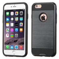 Brushed Hybrid Armor Case for iPhone 6 Plus / 6S Plus - Black