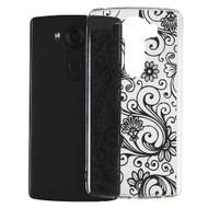 Floral Rubberized Crystal Case for LG V10 - Black