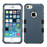 Military Grade Certified TUFF Hybrid Case for iPhone SE / 5S / 5 - Slate