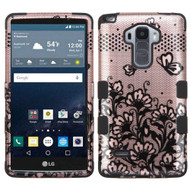Military Grade Certified TUFF Image Hybrid Case for LG G Stylo / Vista 2 - Lace Flowers Rose Gold