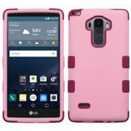 Military Grade Certified TUFF Hybrid Case for LG G Stylo / Vista 2 - Soft Pink Rose