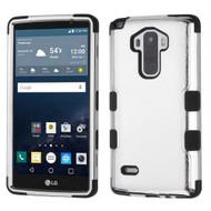 Military Grade Certified TUFF Hybrid Case for LG G Stylo / Vista 2 - Chrome