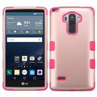 Military Grade Certified TUFF Hybrid Case for LG G Stylo / Vista 2 - Rose Gold Hot Pink