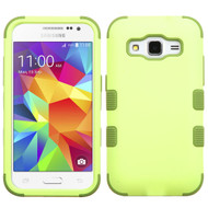 Military Grade Certified TUFF Hybrid Case for Samsung Galaxy Core Prime / Prevail LTE - Green Tea Olive