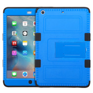Military Grade Certified TUFF Hybrid Armor Case with Stand for iPad Mini - Blue