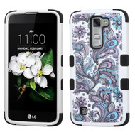 Military Grade Certified TUFF Hybrid Case for LG K7 / Treasure LTE / Tribute 5 - Persian Paisley 237
