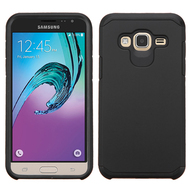 Hybrid Multi-Layer Armor Case for Samsung Galaxy Amp Prime / Express Prime / J3 / Sol - Black