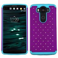 TotalDefense Diamond Hybrid Case for LG V10 - Purple Teal