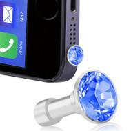 *SALE* Headphone Jack Dust Cap Pendant Jewelry - Blue