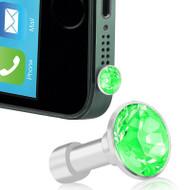 *SALE* Headphone Jack Dust Cap Pendant Jewelry - Green