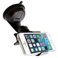 Hands-free Car Windshield Mount Holder - Black