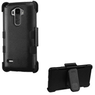 Military Grade TUFF Hybrid Case with Holster for LG G Stylo / Vista 2 - Black