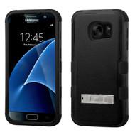 Military Grade Certified TUFF Hybrid Kickstand Case for Samsung Galaxy S7 - Black