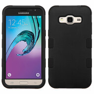 Military Grade TUFF Hybrid Armor Case for Samsung Galaxy Amp Prime / Express Prime / J3 / Sol - Black
