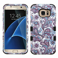 Military Grade TUFF Image Hybrid Case for Samsung Galaxy S7 Edge - Persian Paisley
