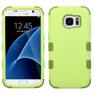 Military Grade Certified TUFF Hybrid Case for Samsung Galaxy S7 - Green Tea Olive
