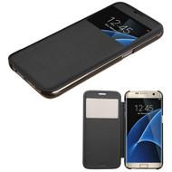 Book-Style Hybrid Case for Samsung Galaxy S7 Edge - Black