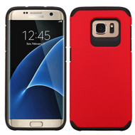 Hybrid Multi-Layer Armor Case for Samsung Galaxy S7 Edge - Red