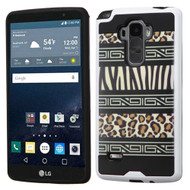 Brushed Graphic Hybrid Armor Case for LG G Stylo / Vista 2 - Leopard Zebra