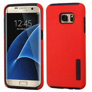 Pro Shield Hybrid Armor Case for Samsung Galaxy S7 Edge - Red