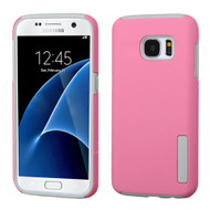 Pro Shield Hybrid Armor Case for Samsung Galaxy S7 - Pink Grey