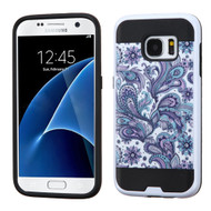 Brushed Graphic Hybrid Armor Case for Samsung Galaxy S7 - Persian Paisley