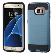 Brushed Hybrid Armor Case for Samsung Galaxy S7 Edge - Ink Blue