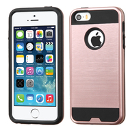 *Sale* Brushed Hybrid Armor Case for iPhone SE / 5S / 5 - Rose Gold