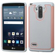 TotalDefense Hybrid Case for LG G Stylo / Vista 2 - Grey Rose Gold