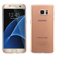 Rubberized Crystal Case for Samsung Galaxy S7 Edge - Rose Gold