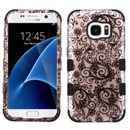 Military Grade Certified TUFF Image Hybrid Case for Samsung Galaxy S7 - Leaf Clover Rose Gold