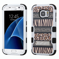 Military Grade Certified TUFF Image Hybrid Kickstand Case for Samsung Galaxy S7 - Leopard Zebra