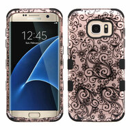 Military Grade TUFF Image Hybrid Case for Samsung Galaxy S7 Edge - Leaf Clover Rose Gold