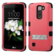 Military Grade Certified TUFF Hybrid Armor Case with Stand for LG K7 / Treasure LTE / Tribute 5 - Pink