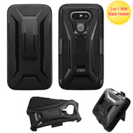 Tough Armor Hybrid Kickstand Case with Holster for LG G5 - Black