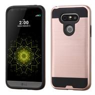 Brushed Hybrid Armor Case for LG G5 - Rose Gold