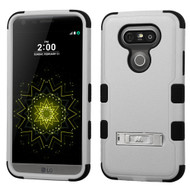 Military Grade Certified TUFF Hybrid Armor Case with Stand for LG G5 - Grey