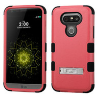 Military Grade Certified TUFF Hybrid Armor Case with Stand for LG G5 - Pink