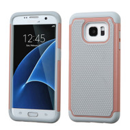 TotalDefense Hybrid Case for Samsung Galaxy S7 Edge - Grey Rose Gold