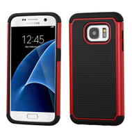 TotalDefense Hybrid Case for Samsung Galaxy S7 - Red